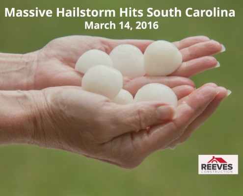 Hailstorm - Hail - Greenville - Spartanburg - Roof Damage - Reeves Roof - Reeves Construction F